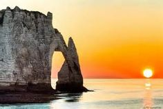 Etretat, Normandy sunset - Bing Images