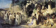 Christ and Sinner, 1873 by Henryk Siemiradzki. Academicism. religious painting