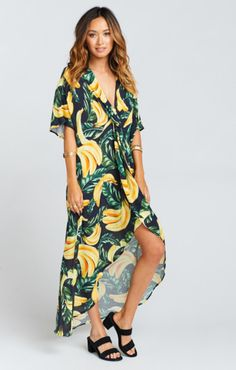 Upgrade Your Pool-Side Loungewear This Summer Show Me Your Mumu Get Twisted Maxi Dress Gone Bananas $150