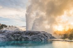 Visit Te Puia to experience the might of the iconic Pohutu Geyser that erupts up to 20 times a day, spurting hot water up to 30m skyward.