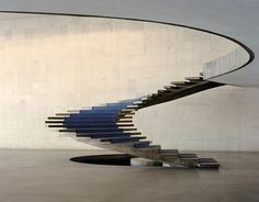 Staircase of the Itamaraty Palace by Niemeyer