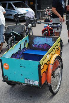 Hand painted Christiana cargo bike