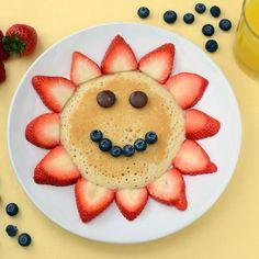 Happy fruit pancakes