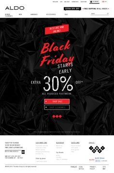 Aldo - Thanksgiving Day – Black Friday