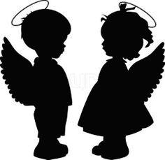 """Boy & Girl Angels/Cherubs 190Mm Mylar 6"""" & 8""""Stencil Durable & Sturdynew"""