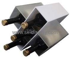 Custom acrylic bottle holder wine bottle display rack wine display stand WD-051