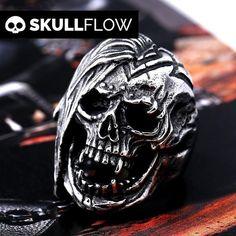 Stainless Steel Punk Skull Ring