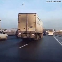 Dodging with a truck | Gif Finder – Find and Share funny animated gifs