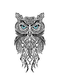 ... 师   ch Temporary Tattoo Paper Owl Sex Products Black for Men Women