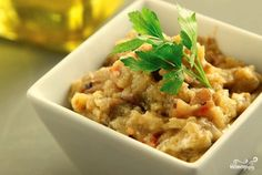 Греческий салат из баклажанов