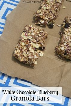 White Chocolate Blueberry Granola Bars make it easy to create your own healthy snacks at home.