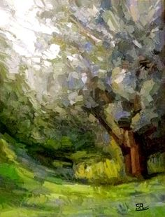 spring tree by Saeed   60x80 oil on canvas