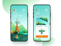 Green Island Flying Game designed by JzhDesigner. Connect with them on Dribbble; Design Ios, Game Ui Design, Interface Design, Flat Design, Mobile App Ui, Mobile App Design, Wireframe, Design Thinking, Motion Design