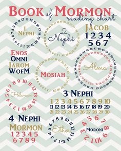 I saw this adorable Book of Mormon reading chart on Pinterest, but the pin was linked to another blog whose author couldn't remember where ...