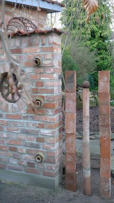 Garten | Karin Urban - Natural STyle - Part 3 Gartenstelen aus Tonrohren als Sichtschutzelement
