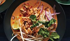 A simple curry paste gives this northern Thai-inspired Chicken Khao Soi soup surprising depth of flavor.