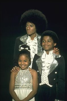 Michael Jackson, Janet Jackson, and Randy Jackson