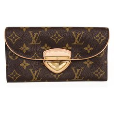 Pre-owned Louis Vuitton Wallet ($896) ❤ liked on Polyvore featuring bags, wallets, apparel & accessories, handbags, wallets & cases, wallets & money clips, brown bag, hardware bag, brown wallet and louis vuitton wallet