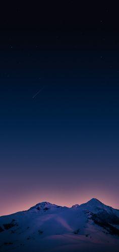 Mountain, sky, blue, night, stars, wallpaper, clean, galaxy, colour, photography, s8, walls, Samsung, galaxy s8, s9