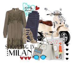 """Shopping in Milan"" by captainsilly ❤ liked on Polyvore featuring мода, Ladurée, Prada, Palomar, Illesteva, McGuire Denim и Stuart Weitzman"