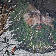 Border decoration, the Great Palace Mosaic Museum, Istanbul. Byzantine, 5th century A.D.