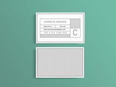 PERSONAL CARDS by Lisboa Estudio Creativo, via Behance