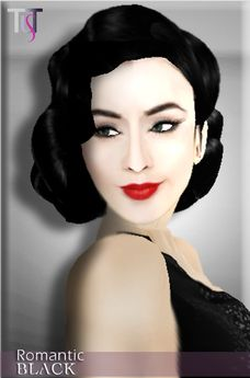 Second Life Marketplace - ~TuTy's~ ROMANTIC 40's Vintage hairstyle - Black