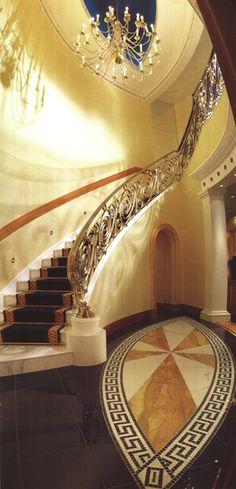 Burj Al Arab Suite staircase, Dubai Burj Al Arab, Dubai Hotel, Dubai Uae, Luxury Home Decor, Luxury Homes, Prague Hotels, Visit Dubai, Stairway To Heaven, Grand Staircase