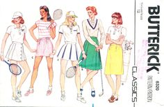 Butterick 6320, Skirt and bloomers for tennis and golf, Misses' size 12, waist 26.5, hip 36 by MySewingChest on Etsy