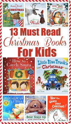 13 Must Read Christmas Books for Kids - Kinder Weihnachten Christmas Books For Kids, Preschool Christmas, Christmas Mom, Christmas Activities, Christmas Traditions, Christmas Crafts, Xmas, Family Traditions, Family Activities