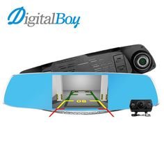 "DIGITALBOY 4.3"" Car Rearview Mirror Camera Dual Camera Dvrs 1080P FHD Car Video Recorder Camcorder Parking Assistance Dash Cam"