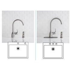 null flow series single-handle pull-down sprayer kitchen faucet