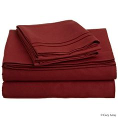 "500 Thread Count Egyptian Cotton Solid Burgundy King Bed Skirt by Scala. $36.99. 1 Bed Skirt. Set Includes: 1 King/CalKing Size Bed Skirt 76"" X 80"" with 15"" drop, Tailored style, split corners, Material: 100% Egyptian cotton,Sateen finish Bed Skirt, Single-ply, Care instructions: Machine washable."