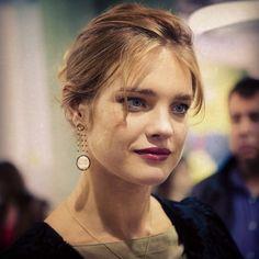 """Natalia Vodyanova wearing """"Yana"""" earrings"""