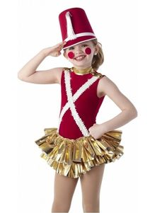 59bdb448c5 Tin Soldier Dance Costume Christmas Skirted Leotard No Hat Tap Adult Small    Med