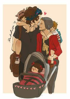 Find images and videos about one direction, louis tomlinson and Harry Styles on We Heart It - the app to get lost in what you love. Larry Stylinson, Louis Tomlinson, Fanart, Desenhos One Direction, One Direction Fan Art, Familia Anime, Larry Shippers, Lgbt Love, Louis And Harry