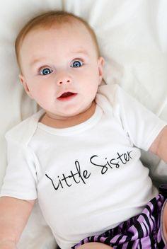 Little Sister Baby Girl Clothing Set, Little Sis, New Little Sister, New Baby Sister, New Sister Onesie