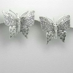 IN STOCK! 925 Sterling Silver Butterfly Earrings LIKE THIS LISITING TO BE NOTIFIED IF THE PRICE DROPS! Cute NWT 925 Sterling Silver Butterfly Earrings. Hand forged with fancy stamping and filigree work decorate the wings Brand new, never worn! Comes in original packaging. Hallmarked 925 sterling silver. Feel free to ask any questions. PRICED TO SELL! Bundle for further discounts. Boutique  Jewelry Earrings