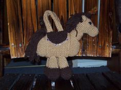 Brown Horse Purse by amydscrochet on Etsy, $15.00