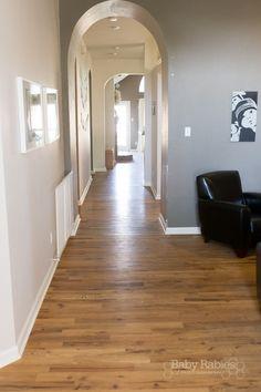 DIY Low Budget Hardwood Floors- BabyRabies.com