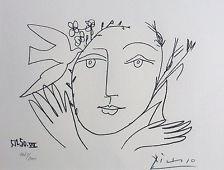 PABLO PICASSO Visage de la Paix 1950 VII