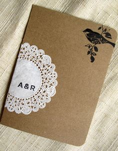doily wedding invitation