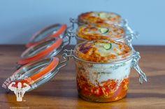 Hi-Protein Zucchini Lasagna Meal Prep in Jars