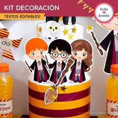 Harry Potter Fiesta, Cumpleaños Harry Potter, Gateau Harry Potter, Harry Potter Birthday Cake, Harry Potter Party Decorations, Birthday Decorations, Birthday Ideas, Maquillage Harry Potter, Imprimibles Harry Potter