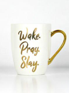 Wake Pray Slay! Christian coffee mug, Christian home decor, gifts for Christian women, Wake pray slay mug, Christian gifts