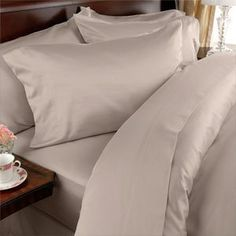 """Elegance Linen ® Wrinkle Resistant - 1200 Series Silky Soft Luxurious 4-Piece Sheet Set, Deep Pockets Fits Up to 16"""" - All Size and Colors , King, Beige by SandersCollection. $24.00. Micro fiber sheets are as soft as 1,200 thread count Egyptian cotton. Fits mattresses up to 14"""" - 16"""" deep with elastic all around the fitted sheet. Easy care sheets are machine washable and require no ironing. 1 Flat Sheet (102"""" x 105"""") 1 Fitted Sheet (78"""" x 80"""") and 2 Standard Pi..."""