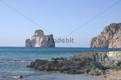 Pan di Zucchero seen from the beach near Masua Sardinia Italy Europe