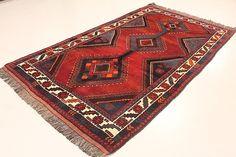 Red 5' 2 x 9' 3 Ghashghaei Rug | Persian Rugs | eSaleRugs