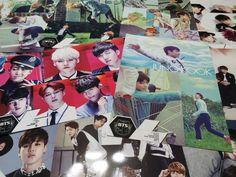 [BTS] Bangtan Boys Bromide Poster 12pcs + Sticker Size of A4 Paper x 2 KPOP Kpop