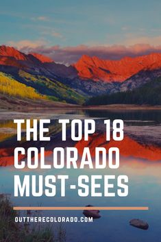 It's hard to count the number of beautiful destinations in Colorado because it seems that you stumble upon a new one around every corner. From beautiful alpine lakes to crystal clear reservoirs and ja Breckenridge Colorado, Aspen Colorado, Estes Park Colorado, Colorado Must See, Colorado Places To Visit, Road Trip To Colorado, Colorado Hiking, Colorado Mountains, Vacation In Colorado